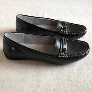 Life Stride Viva memory foam loafers black new box